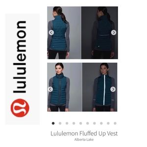 Lululemon Fluffed Up Vest. Dark Teal. Size 8
